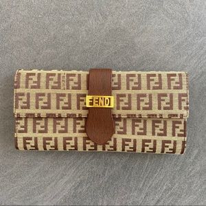 Fendi Logo Leather Wallet